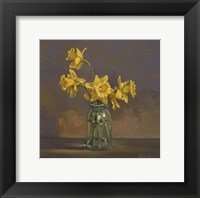 Framed Canning Jar Daffs