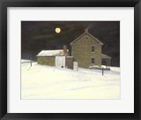 Framed Early Moon