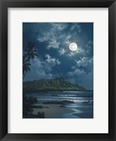 Framed Waikiki Night Sky
