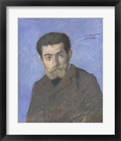 Framed Portrait Of The Writer Joris-Karl Huysmans (1848-1907)