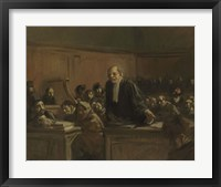 Framed Court Scene - Speech For The Defense, 1907