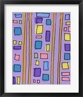 Framed Squares and Stripes Purple