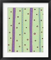 Framed Bubbles and Stripes Mint