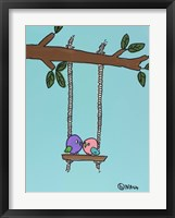 Framed Lovebirds