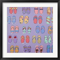 Flip Flops - Purple Framed Print