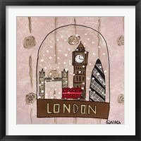 Framed London Snow Globe