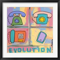Evolution - Phone Framed Print