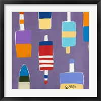 Buoys Purple Framed Print