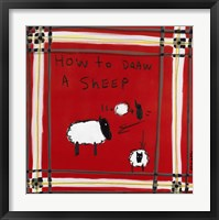 Framed How to Draw A Sheep
