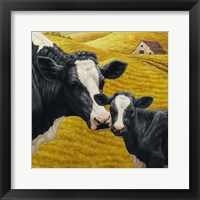 Framed Holstein Cow and Calf