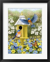 Framed Bluebird Garden Home