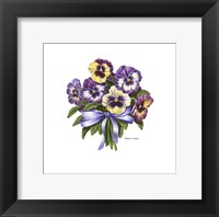 Framed Pansy Bouquet