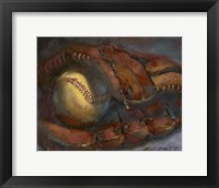 Baseball and Mitt Framed Print