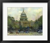Framed U.S. Capitol