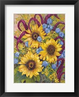 Framed Sunflowers And Thistles
