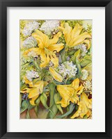 Framed Bright Yellow Lillies