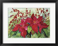 Framed Red Poinsettia