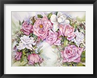 Framed Arch Of Pink & White Roses