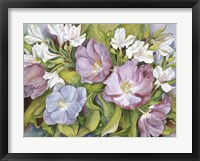 Framed Purple Tulips/ White Alstroneria