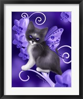 Amethyst Cat Framed Print