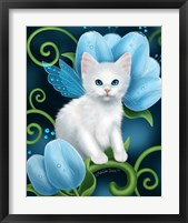 Aquamarine Cat Framed Print