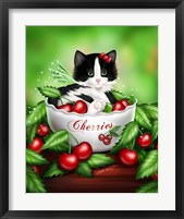 Cherry Kitten Framed Print