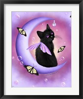 Daybreak Moon Pearls Framed Print