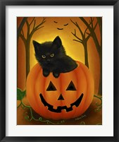 Framed Halloween Kitten