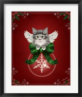 Happy Holidays Cat Framed Print