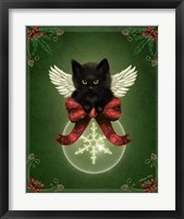 Merry Little Christmas Cat Framed Print