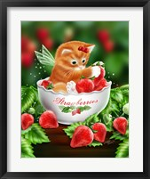 Strawberry Kitten Framed Print