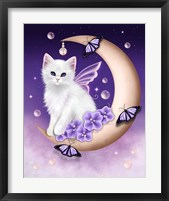 Twilight Moon Pearls Framed Print