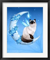 Winter Moon Cat Framed Print