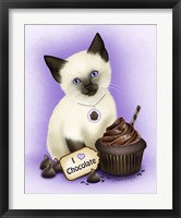 Framed Chocolate Cupcake Kitten