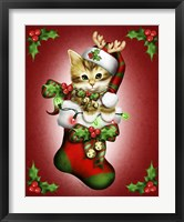 Reindeer Stocking Framed Print