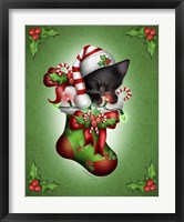Candy Cane Elf Framed Print