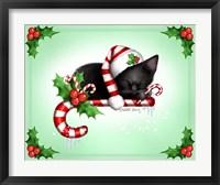Framed Candy Cane Christmas