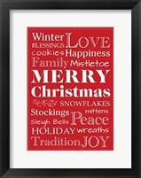 Framed Christmas Love