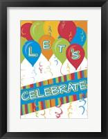 Framed Let's Celebrate