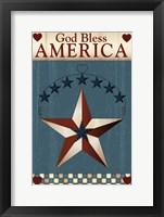 Framed God Bless America Star