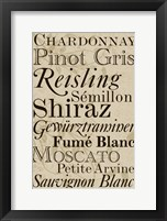Framed White Wine Typography