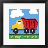 Dump Truck Framed Print
