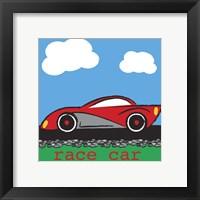 Framed Race Car