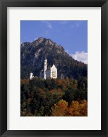 Framed Bavarian Alps and Neuschwanstein Castle