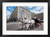 Framed Horse Drawn Carriage in Vienna