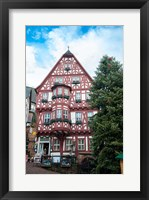 Framed Half-Timber Hotel during Christmas