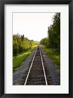 Framed Manitoba Train Tracks