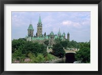 Framed Parliament Building in Ottawa