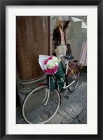 Framed Bicycle Parked in Copenhagen, Denmark