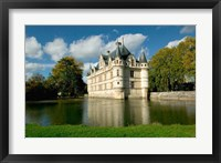 Framed Chateau of Azay-le-Rideau, Loire Valley, France